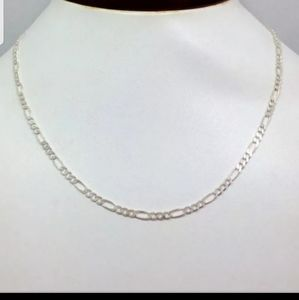 Accessories - Sterling Silver 925 Super Flat Figaro Chain 3mm